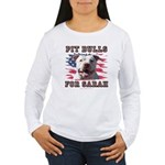 Pit Bulls for Sarah Women's Long Sleeve T-Shirt