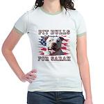 Pit Bulls for Sarah Jr. Ringer T-Shirt