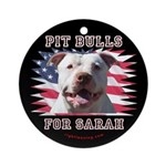 Pit Bulls for Sarah Ornament (Round)