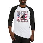 Pit Bulls for Sarah Baseball Jersey