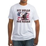Pit Bulls for Sarah Fitted T-Shirt