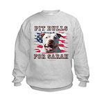 Pit Bulls for Sarah Kids Sweatshirt