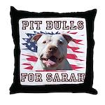 Pit Bulls for Sarah Throw Pillow