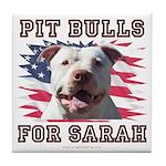 Pit Bulls for Sarah Tile Coaster