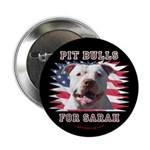 """Pit Bulls for Sarah 2.25"""" Button (100 pack)"""