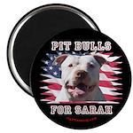 "Pit Bulls for Sarah 2.25"" Magnet (100 pack)"