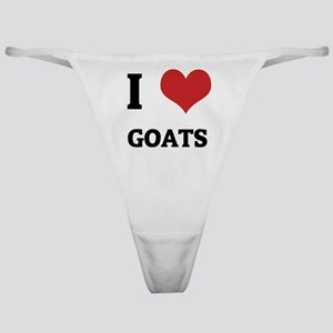 I Love Goats Classic Thong