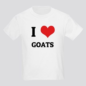 I Love Goats Kids T-Shirt