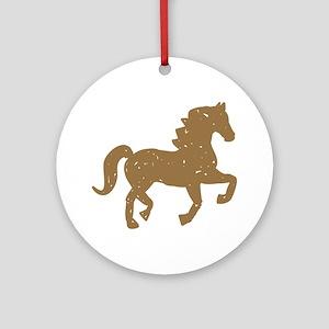 Pretty Ponies Round Ornament