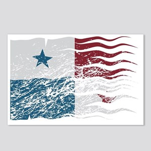 Wavy Panama Flag Grunged Postcards (Package of 8)