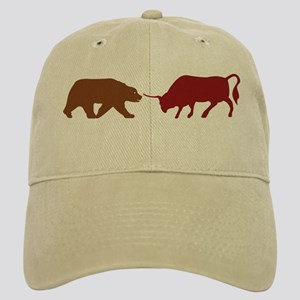 Bull and Bear Silhouette Cap