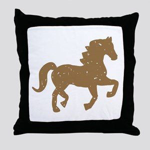 Pretty Ponies Throw Pillow