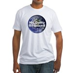 """""""No Deity Required"""" Fitted T-Shirt"""