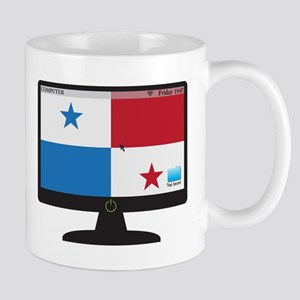 Panama Computer Screen With On Button Mugs
