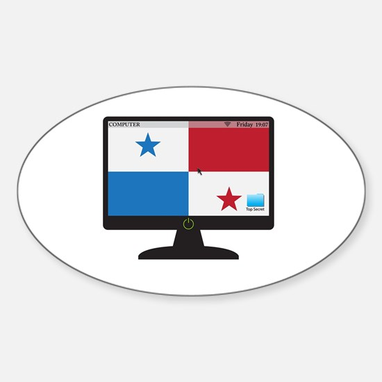 Panama Computer Screen With On Button Decal