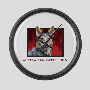 Australian Cattle Dog Large Wall Clock