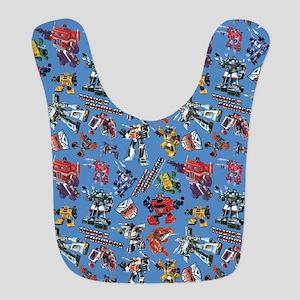 Transformers Vintage Pattern Polyester Baby Bib