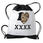 I Camo Heart Drawstring Bag