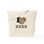 I Camo Heart Tote Bag