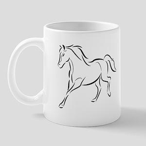 Running Left Horse Mug