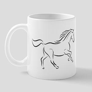 Running Right Horse Mug