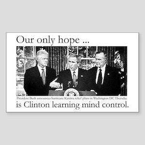 Bush ignores Katrina victims Rectangle Sticker