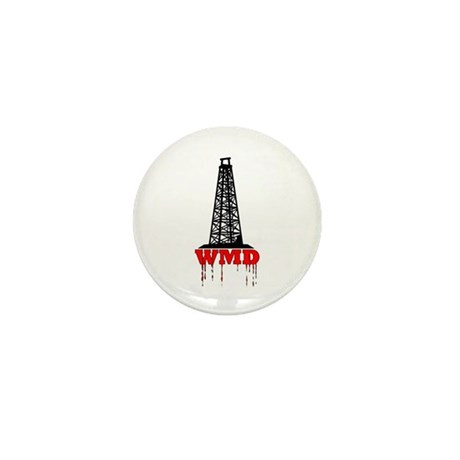 No Blood for Oil, WMD Mini Button