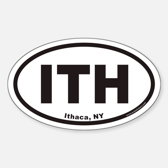 Ithaca New York ITH Euro Oval Decal