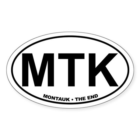 MTK Montauk The End Sticker (Oval)