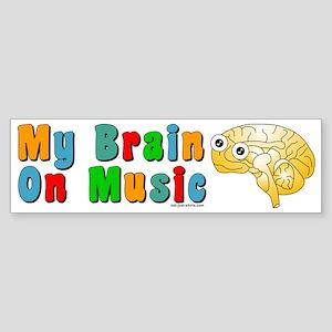 Music Brain Bumper Sticker