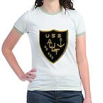 USS AULT Jr. Ringer T-Shirt