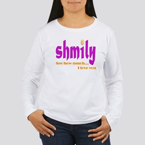 SHMILY Smiley Face Women's Long Sleeve T-Shirt