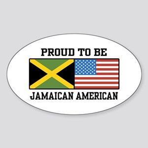 Proud To Be Jamaican American Oval Sticker