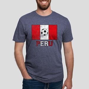 Peruvian Soccer Mens Tri-blend T-Shirt