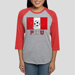Peruvian Soccer Womens Baseball Tee