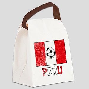 Peruvian Soccer Canvas Lunch Bag