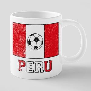 Peruvian Soccer 20 oz Ceramic Mega Mug