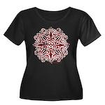 Outdoor Women's Plus Size Scoop Neck Dark T-Shirt