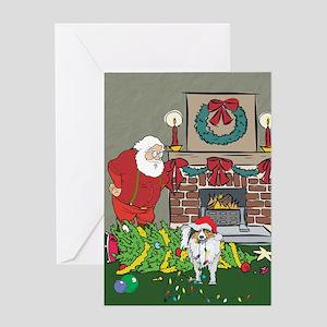 Santa's Helper Sheltie Greeting Card