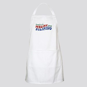 Proud to be Italian and Filipino BBQ Apron