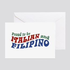 Proud to be Italian and Filipino Greeting Cards (P