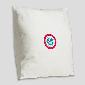 American Motors Burlap Throw Pillow