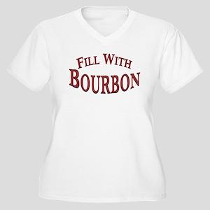 Fill With Bourbon Women's Plus Size V-Neck T-Shirt