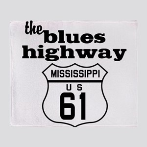 Blues Highway Throw Blanket