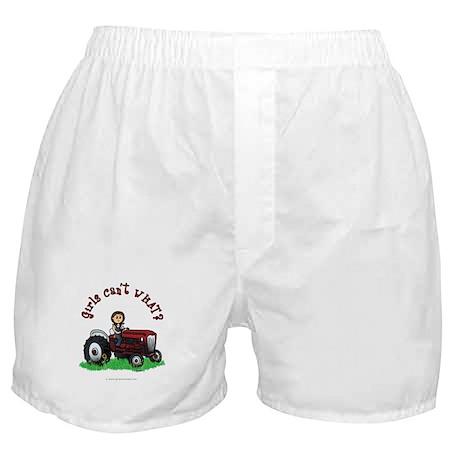 Light Red Farmer Boxer Shorts