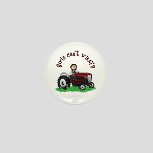Light Red Farmer Mini Button