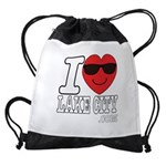 I LOVE LAKE CITY Drawstring Bag