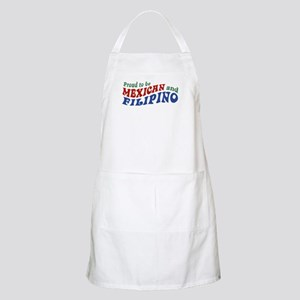 Proud to be Mexican and Filipino BBQ Apron