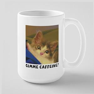 Caffeinated kitten coffee mug, large