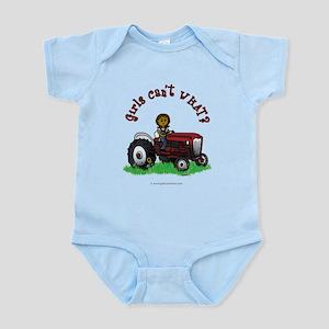 Dark Red Farmer Infant Bodysuit